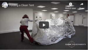 Folding a Clean Tent