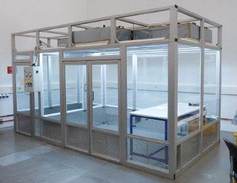 Modular ISO 7 cleanroom