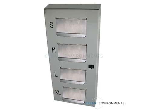 4 tier gloves dispenser, flaps
