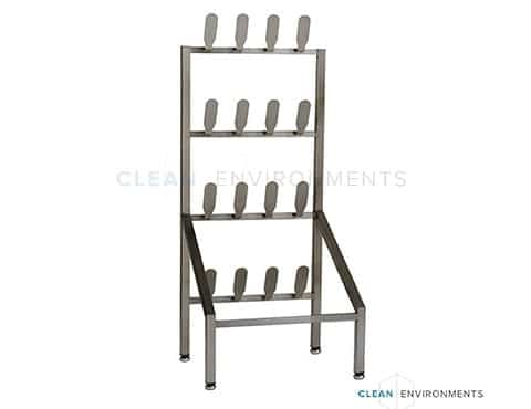 Free-standing shoe rack
