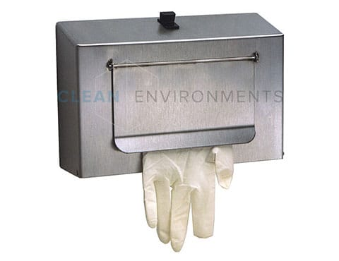 Gloves dispenser with flap
