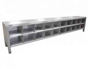 step over bench with double shoe compartments