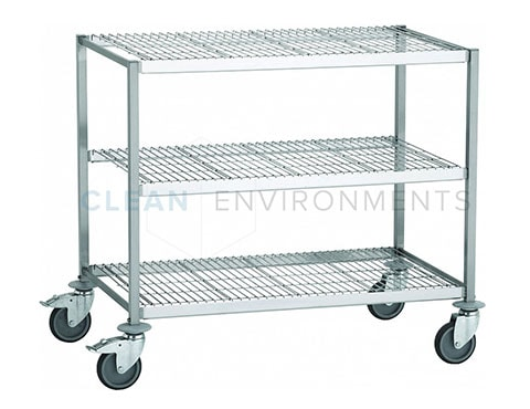 Wire shelf trolley