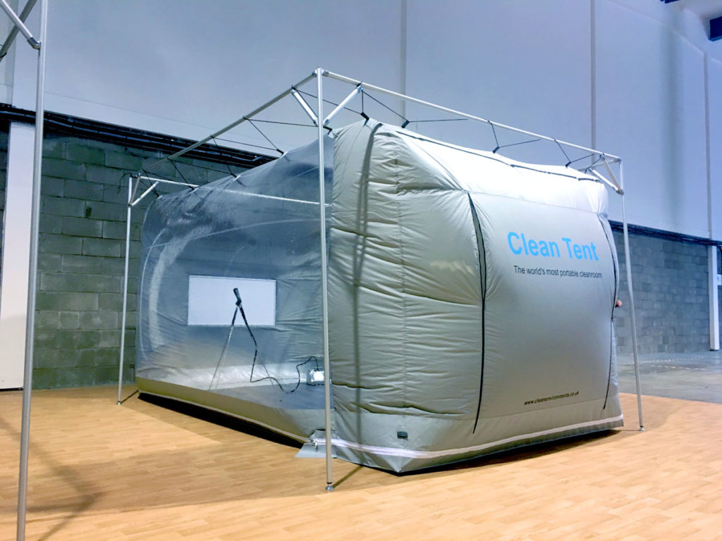 Clean Tent model 750 with optional frame