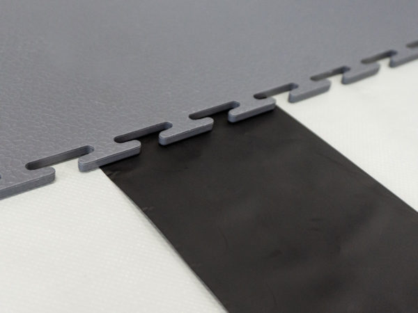 Close up of ESD floor system